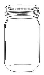 Lightning Bug Template Lightning Bugs In Mason Jar Coloring Page Coloring Pages
