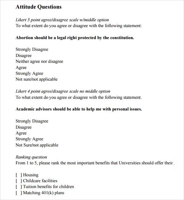 Likert Scale Survey Template Likert Scale Template 14 Free Pdf Doc Excel Download