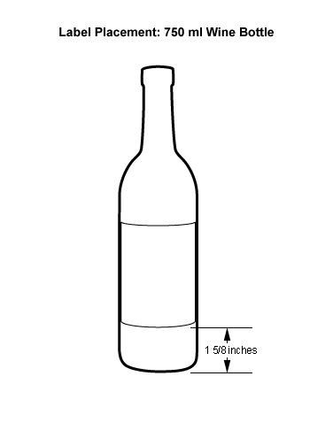 Liquor Bottle Labels Template 750 Ml Label Placement 376×486