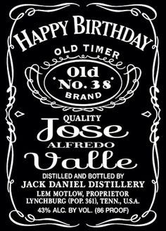Liquor Bottle Labels Template Jack Daniels Label Bing