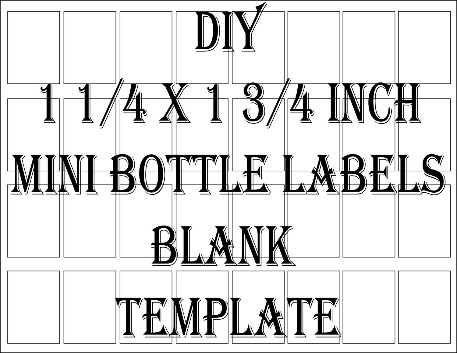 Liquor Bottle Labels Template Mini Liquor Bottle Label Template Printable 4 Files 24 Diy 1