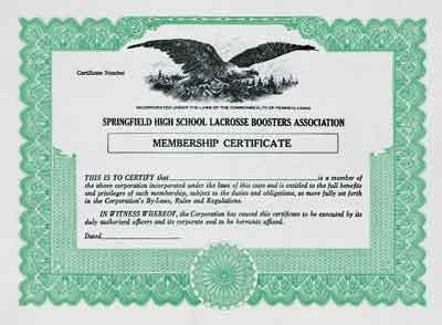 Llc Member Certificate Template Blank Stock Membership and Award Certificates From