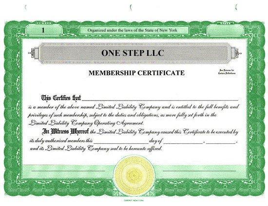 Llc Member Certificate Template Custom Stock Certificates