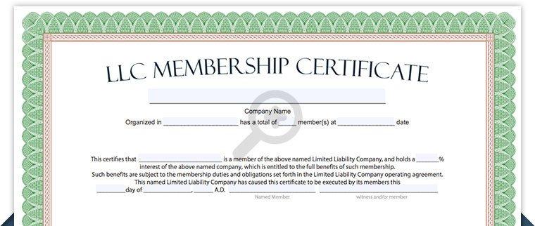 Llc Member Certificate Template Llc Membership Certificate Free Limited Liability