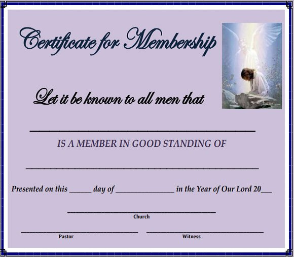 Llc Member Certificate Template Membership Certificate Template 15 Free Sample Example