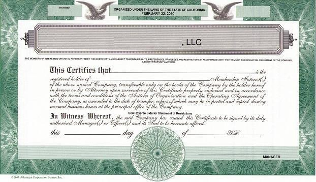Llc Member Certificate Template Should We issue Llc Membership Certificates the High