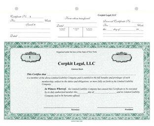 Llc Member Certificate Template top Stub Llc Units Pdf Template