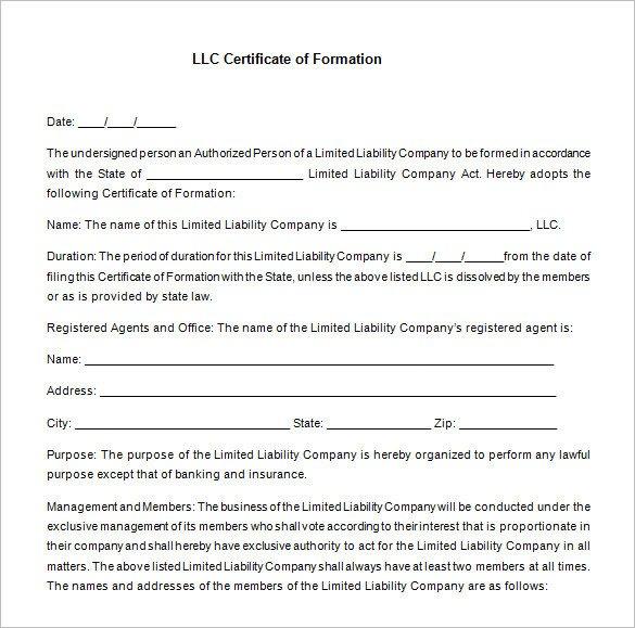 Llc Membership Certificate Template 10 Membership Certificate Templates