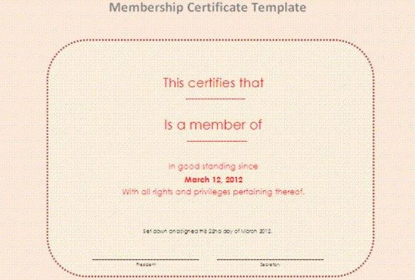 Llc Membership Certificate Template 23 Membership Certificate Templates Word Psd In