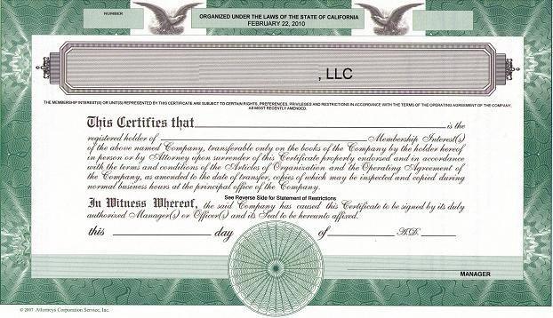 Llc Membership Certificate Template Should We issue Llc Membership Certificates the High
