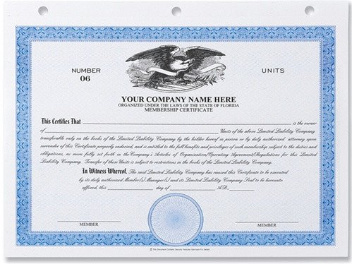 Llc Membership Certificate Template Stock Certificates Llc Certificates Membership Certificates
