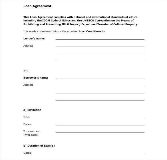 Loan Contract Template Word 27 Loan Contract Templates – Word Google Docs Apple