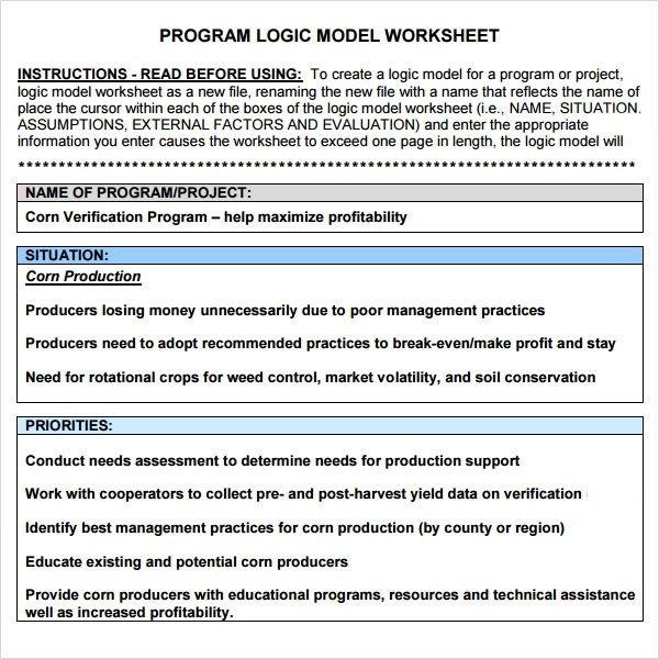 Logic Model Template Powerpoint Sample Logic Model 11 Documents In Pdf Word
