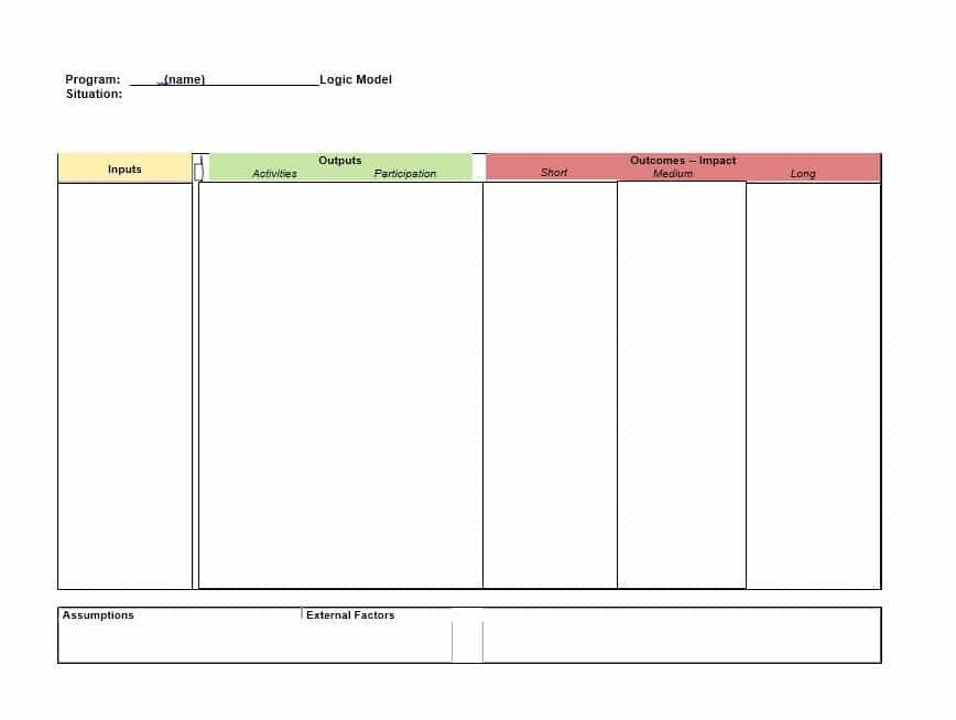 Logic Model Template Word More Than 40 Logic Model Templates & Examples Template Lab