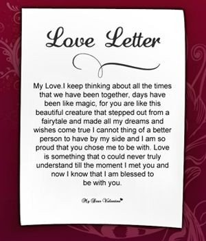 Love Letter to Fiance Love Letter to Girlfriend 2 for My Baby