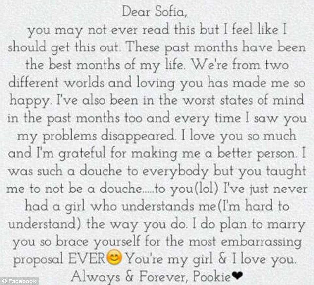 Love Letter to Girlfriend Damell Mickens the touching Love Letter A Teen Wrote to
