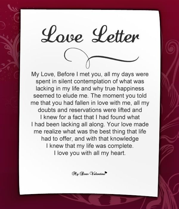 Love Letter to Girlfriend Looking at Love Letters and How they are Full Of Truth