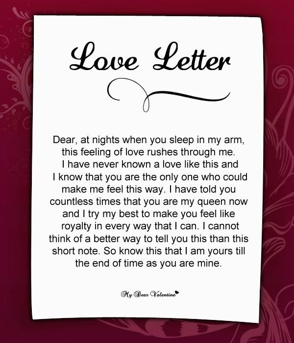 Love Letter to Girlfriend Love Letter for Her 57