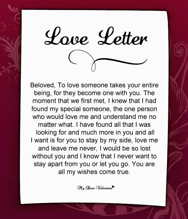 Love Letter to Girlfriend Love Letters for Her 25 Love Letters for Her