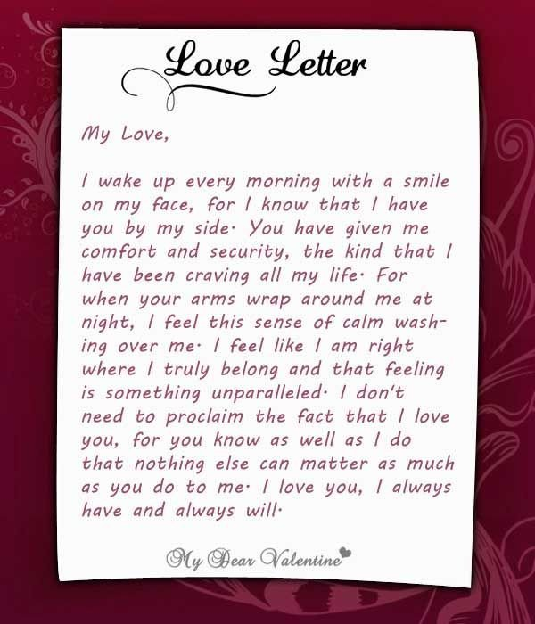Love Letters for Him I Wake Up Every Morning with You at My Side