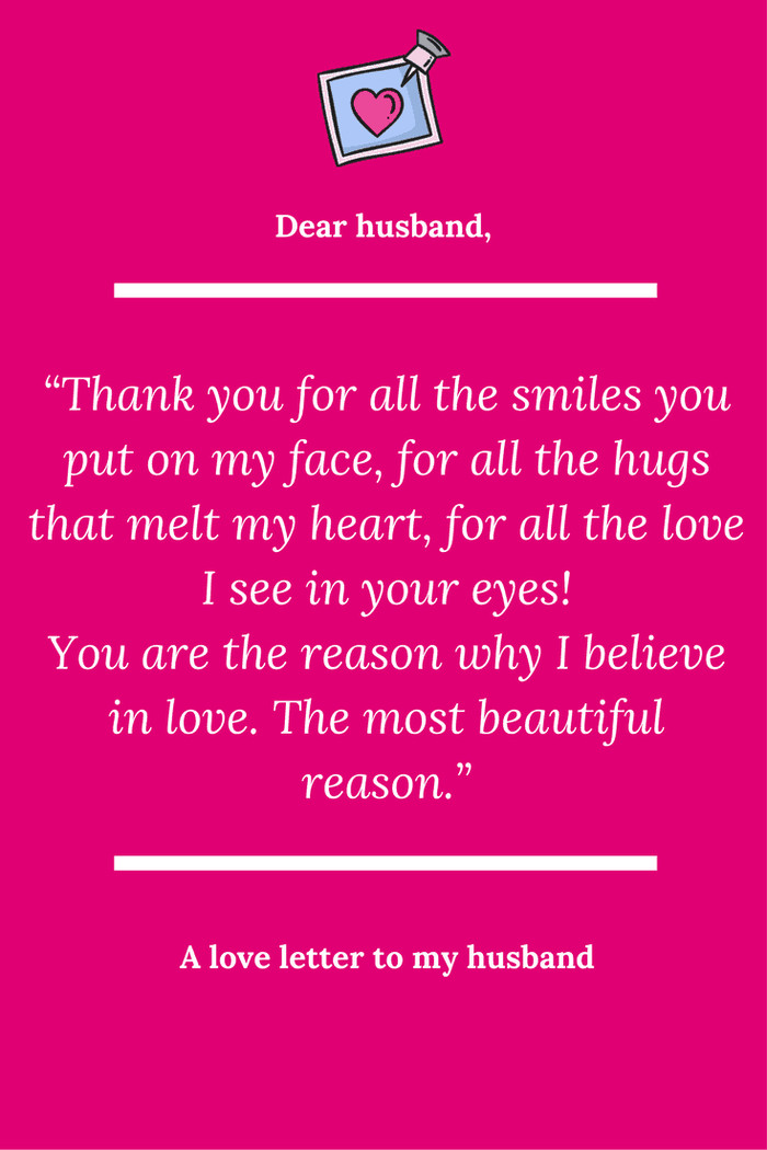 Love Letters for Husband A Love Letter to My Husband