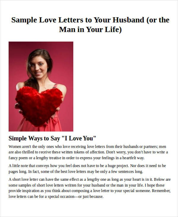 Love Letters for Husband Love Letter Examples