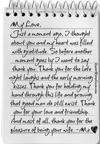 Love Letters for Husband My Love Letter