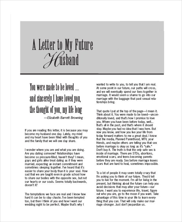 Love Letters for Husband Sample Love Letters to My Husband 7 Examples In Word Pdf