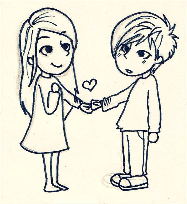 Love Pictures to Draw 9 Cute Love Drawings Jpg Download