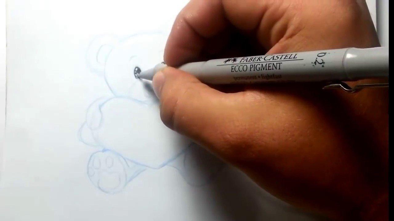 Love Pictures to Draw Desenho Livre Ursinho Love Drawing Little Bear
