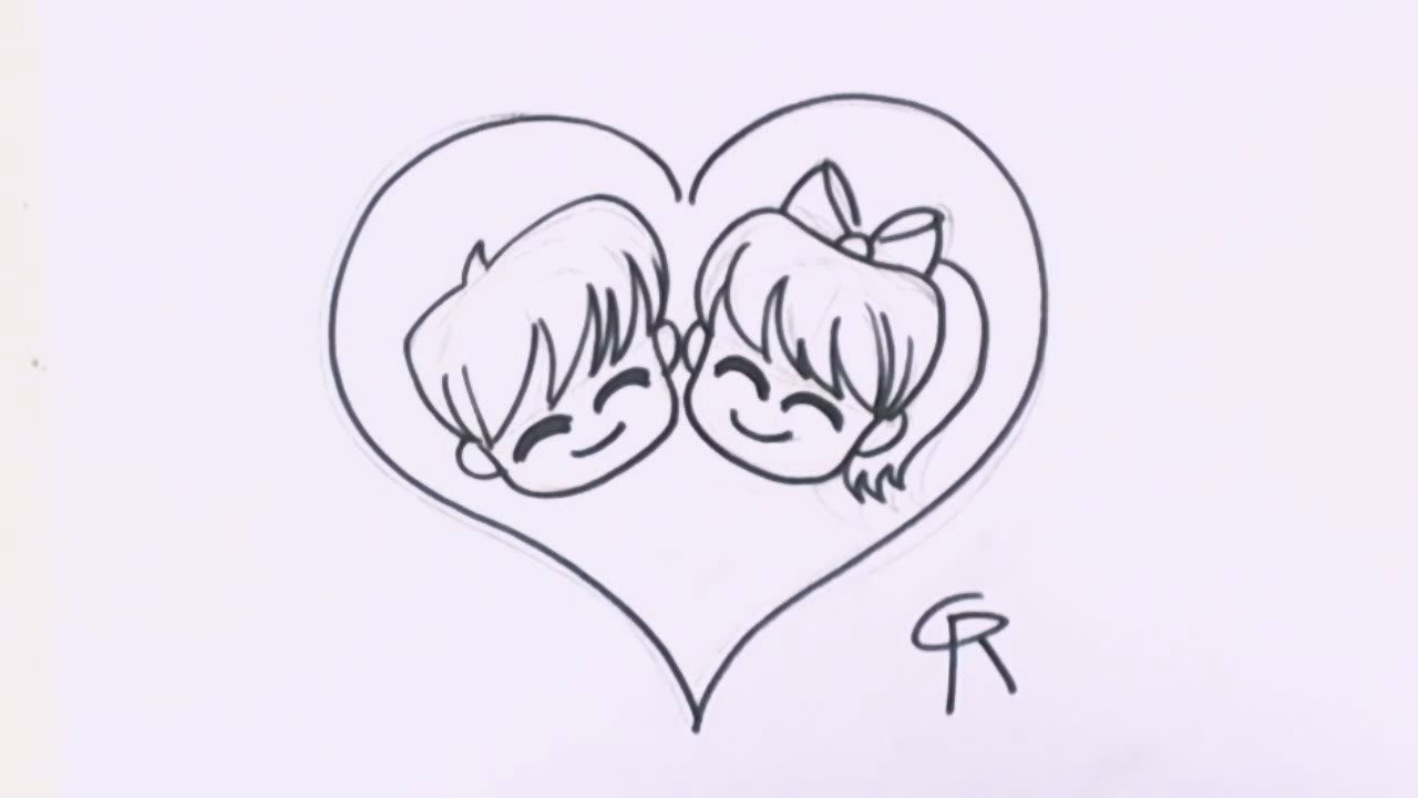 Love Pictures to Draw How to Draw Chibi Characters Cute Chibi Couple In Love
