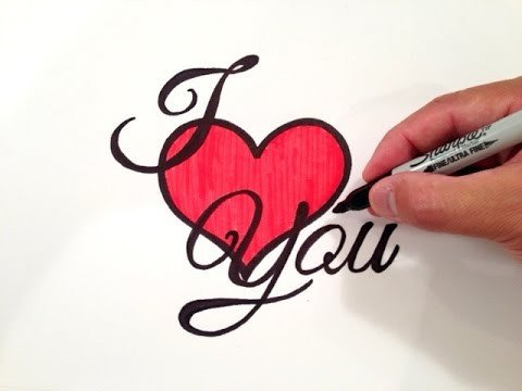 Love Pictures to Draw How to Draw I Love You with A Heart