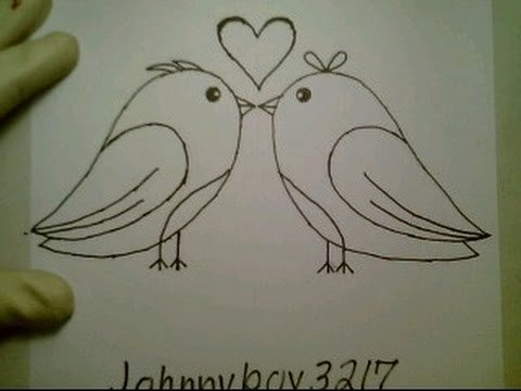 Love Pictures to Draw How to Draw Love Birds for Valentine Day Heart