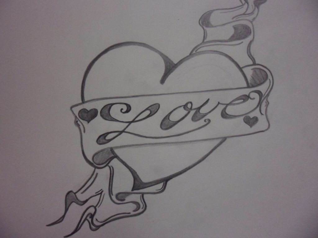 Love Pictures to Draw Love Heart Drawings Love Heart Drawing