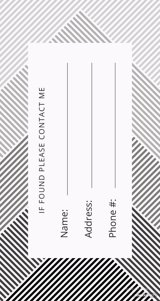 Luggage Tag Template Word Free Luggage Tag Template In Adobe Shop Microsoft