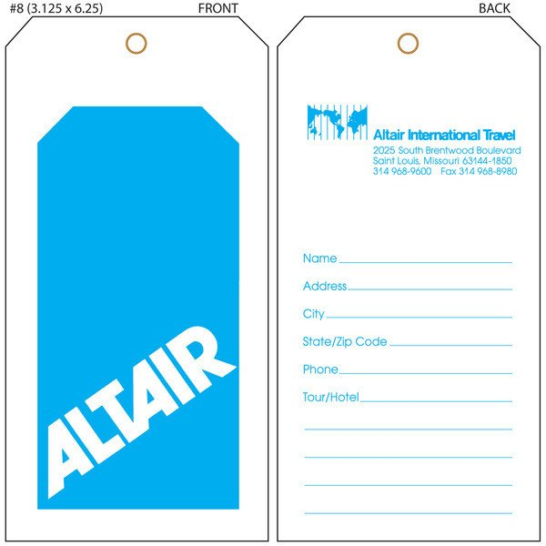 Luggage Tag Template Word Luggage Tag Template