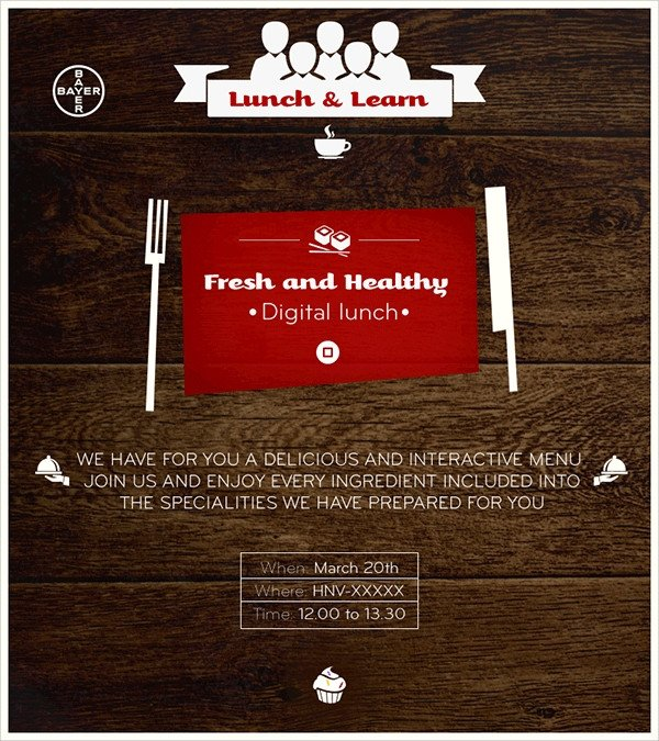Lunch and Learn Invitations 19 Lunch Invitations Psd Vector Eps