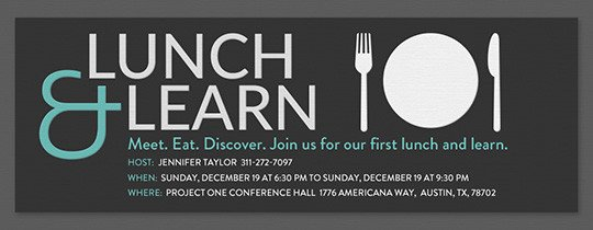 Lunch and Learn Invitations Free Meeting Invitations