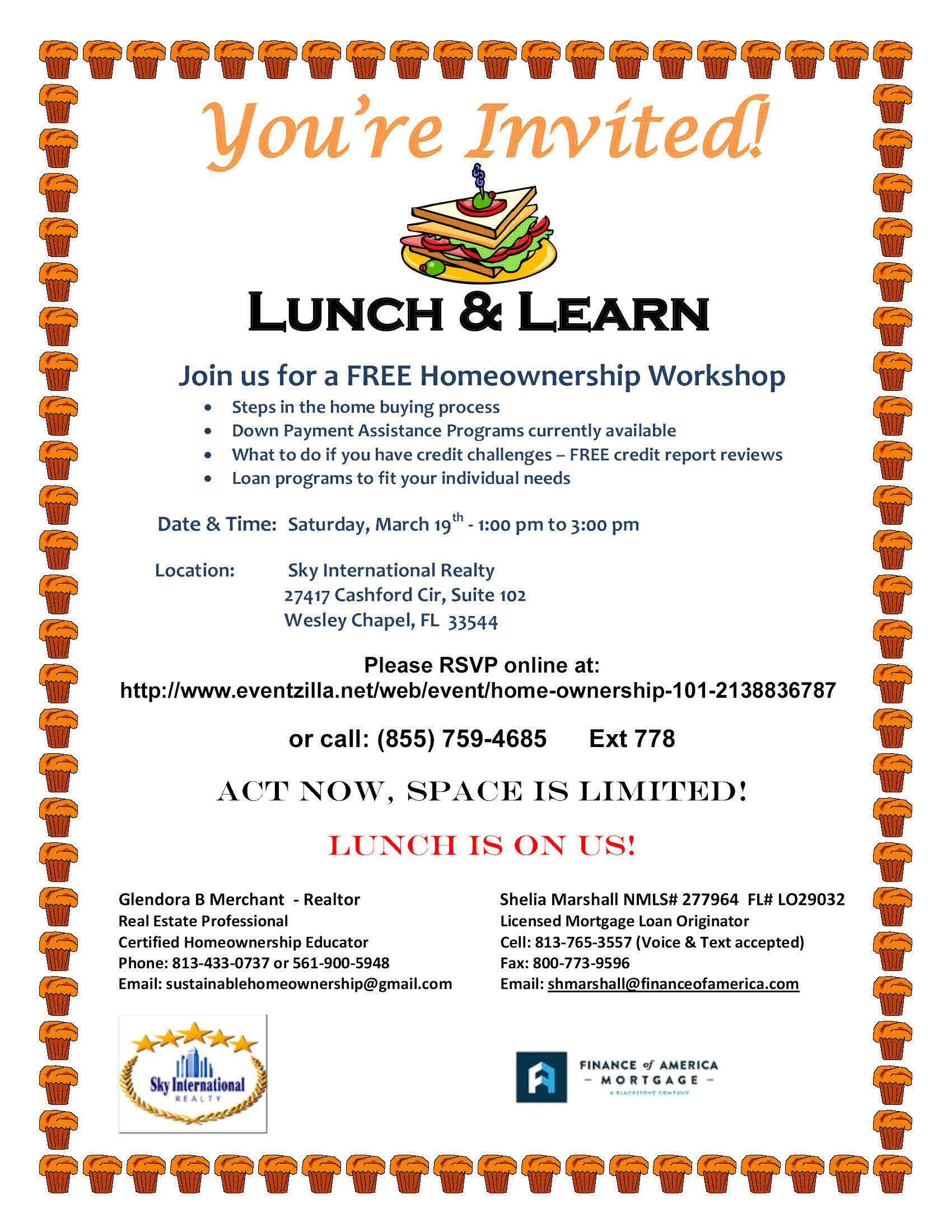 Lunch and Learn Invitations Real Estate Education and Seminars