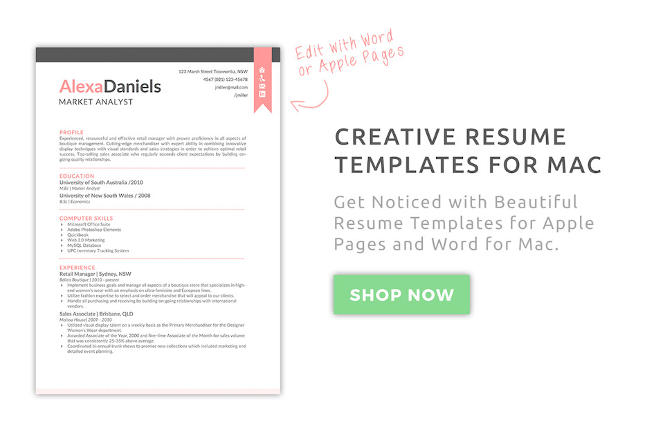 Mac Pages Resume Templates Creative Resume Templates for Mac & Apple Pages ٩ ͡๏̯͡๏ ۶