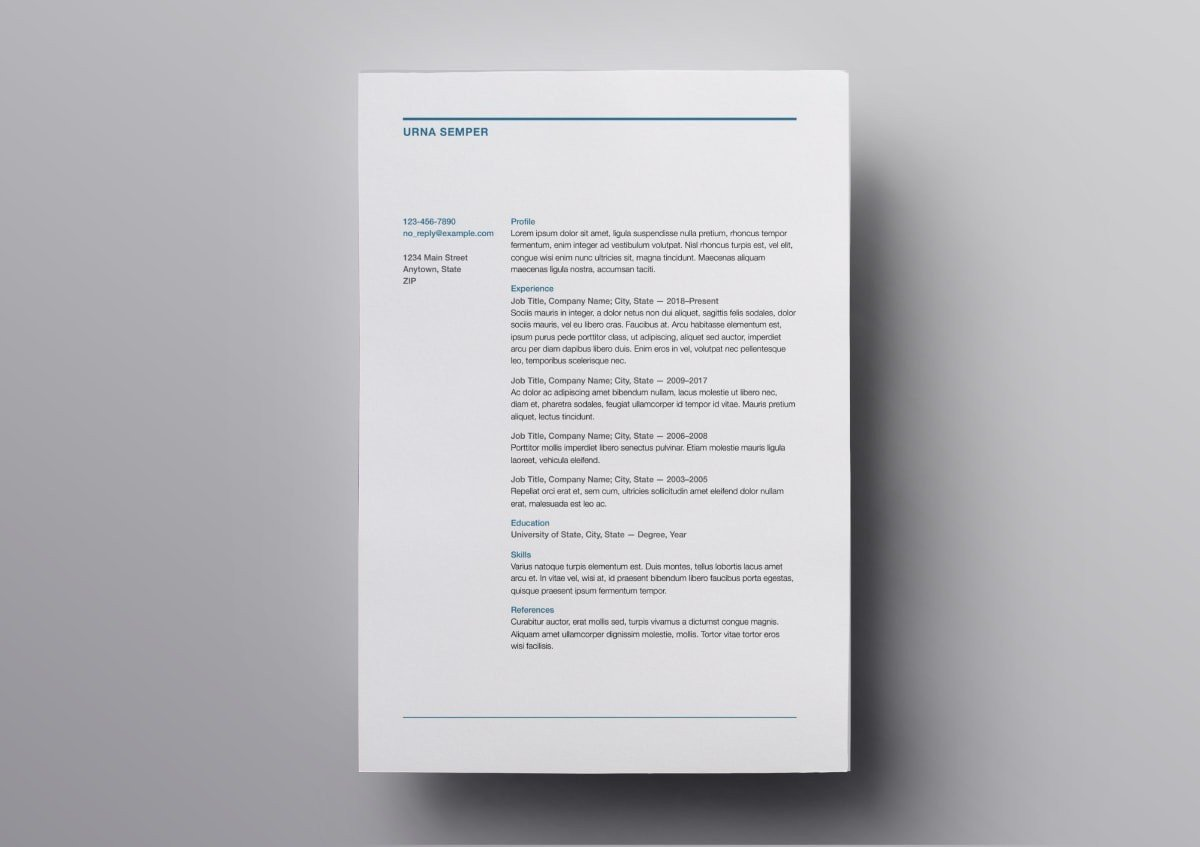 Mac Pages Resume Templates Pages Resume Templates 10 Free Resume Templates for Mac
