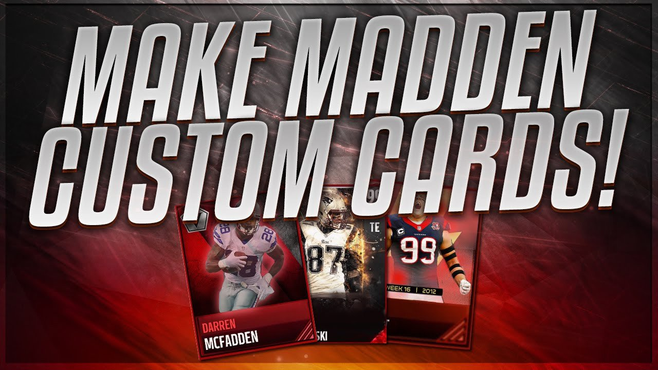 Madden Mobile Card Template How to Make Custom Madden Mobile 17 Cards Tutorial