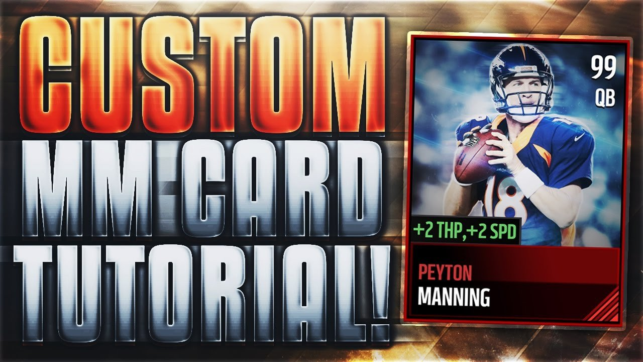 Madden Mobile Card Template How to Make the Best Custom Madden Mobile 17 Cards