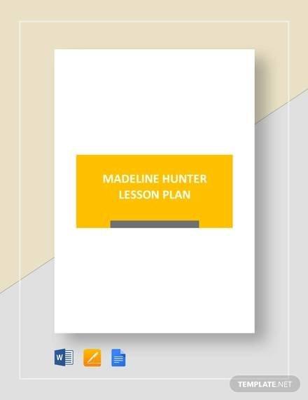 Madeline Hunter Lesson Plan Template Sample Madeline Hunter Lesson Plan – 11 Documents In Pdf