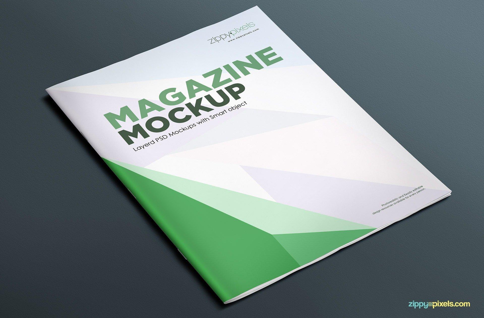 Magazine Cover Mockup Free 17 Magazine Mockup Psds