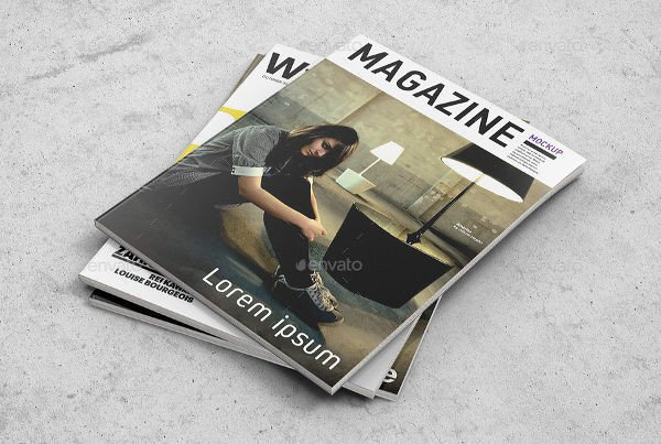 Magazine Cover Mockup Free 54 Realistic Magazine Cover Mockups Psd Ai
