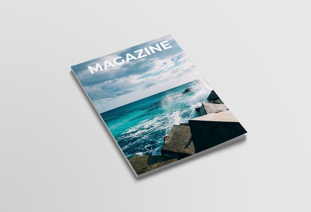 Magazine Cover Mockup Free Clean Magazine Cover Mockup