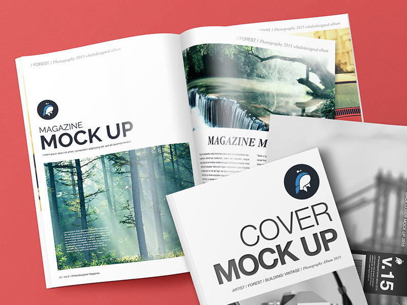 Magazine Cover Mockup Free Free Mockup – Magazine with Cover and Back Cover by