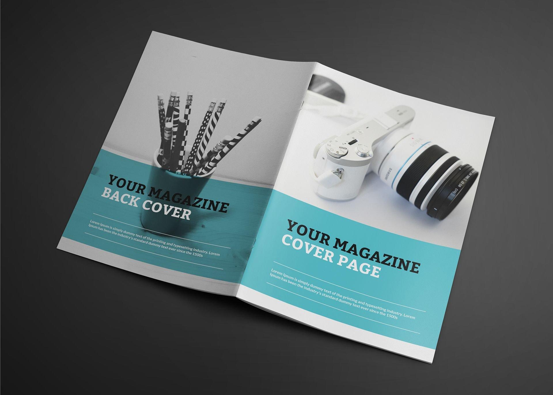 Magazine Cover Mockup Free Free Realistic Catalogue Magazine Mockup