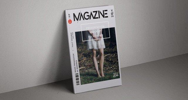 Magazine Cover Mockup Free Psd Magazine Mockup Cover Vol7